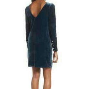 Charles Henry Velvet Pearl Sheath Dress XS